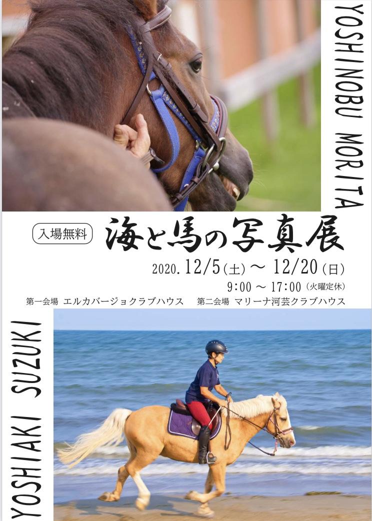 海と馬の写真展ポスター